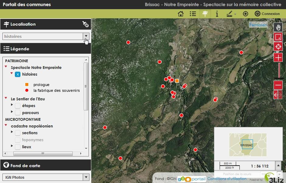 image Ecran_Cartogarrigue_v2.jpg Lien vers: http://wikigarrigue.info/lizmap/index.php/view/map/?repository=cartogarrigue101editable&project=11_0359_QGS_EDITABLE_Brissac_NotreEmpreinte