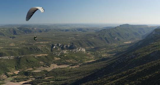 Parapente au-dessus de la Vallée de la Buèges.jpg